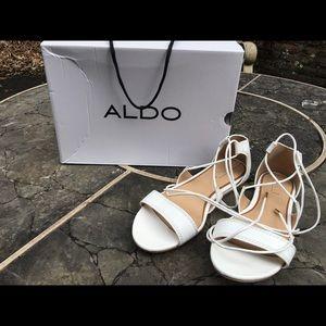 ALDO Size 6.5 Sandals - White